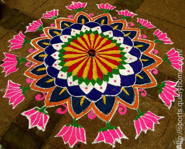 Diwali Rangoli is in fact the traditional symbol of Diwali