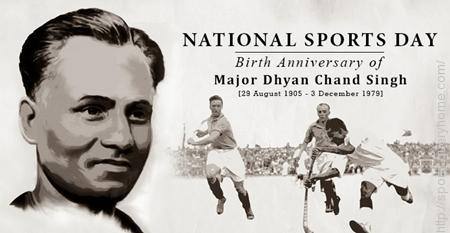 The National Sports Day in India is celebrated on August 29 every year.