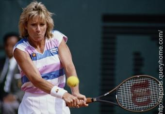American tennis player Chris Evert won the Women's Singles title at Wimbledon in 1974, 1976 and 1981.