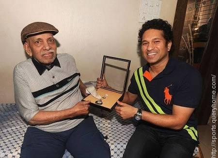 Ramakant Achrekar was Tendulkar's coach, he contributed a lot to his success