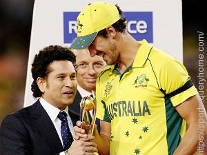 Mitchell Starc was awarded the player of the series award in the 2015 World Cup