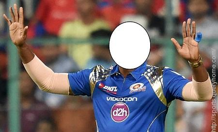 In IPL who put tape on his mouth in protest after being warned about his sledging by an umpire?