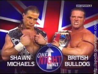 Shawn Michaels beat British Bulldog to win his first Intercontinental Title