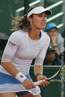 Martina Hingis won the women's singles title at Wimbledon in 1997.