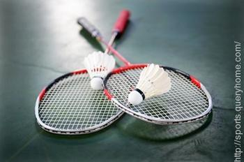 Badminton game get its name because it first played at great Badminton in Gloucestershire, England.