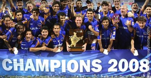 The first IPL final held on 1 June 2008 at the DY Patil Stadium, Navi Mumbai.