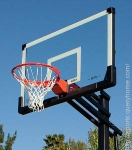 What is the regulation height for a basketball hoop?