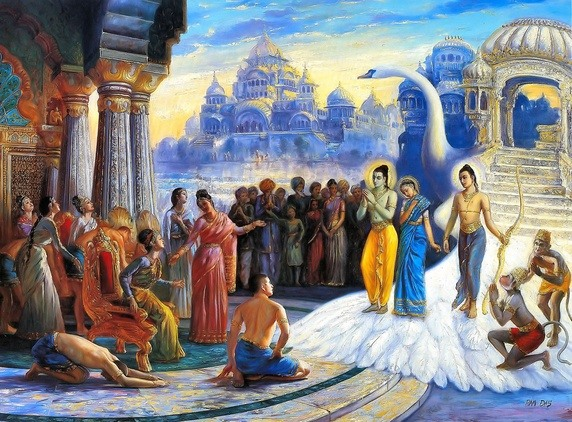 Lord Rama's win and return to Ayodhya