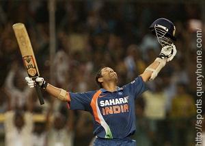Sachin Tendulkar scored his only double century