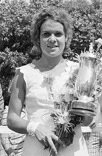 Evonne Goolagong Cawley won the Wimbledon women's single title two times.