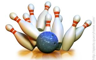 In 10-pin bowling, knocking all the pins down in 2 shots is called a Spare.