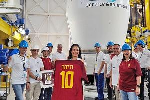 Francesco Totti's final Roma shirt wore on his farewell match was launched into space