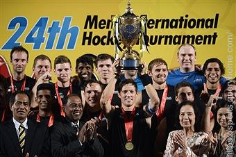 New Zealand winning the 2015 Sultan Azlan Shah Hockey Cup.