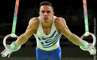 Gymnast Eleftherios Petrounias won the gold medal in men's rings at the Rio Olympic Games.