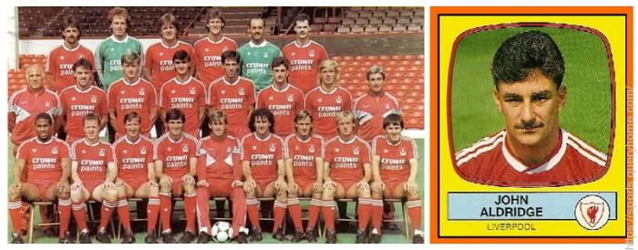Football League Division One in season 1987-88. Liverpool were Champions with 90 points and John Aldridge was the highest goalscorer.