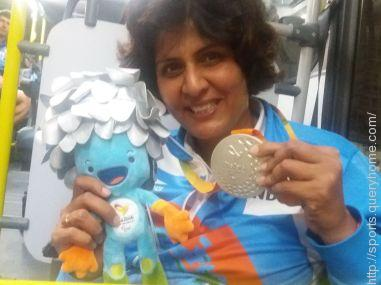 Deepa bagged a silver medal in the shotput F-53 event