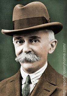 The father of modern olympic Baron Pierre de Coubertin