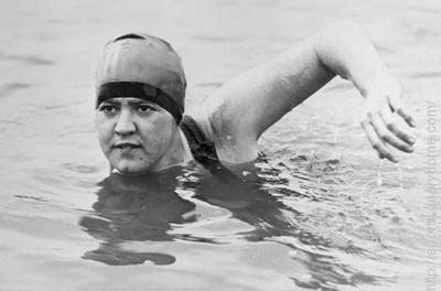Gertrude Ederle was the first woman to swim across the English Channel.
