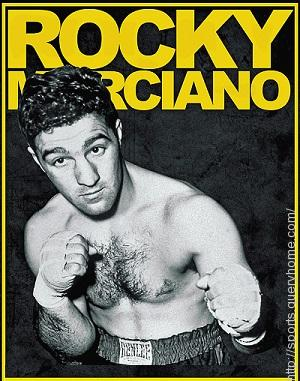Who did Rocky Marciano knockout to win the heavyweight title in 1953?