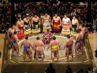 "Sumo Wrestling is played at a ""Basho""."