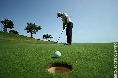 What is the diameter of the golf hole