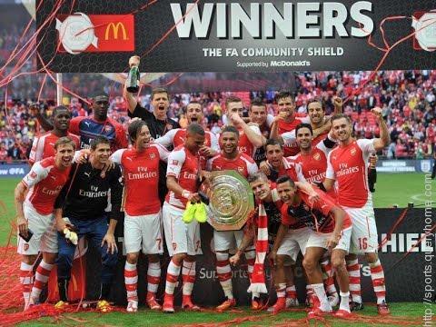 Arsenal FC winning FA Community Shield Cup