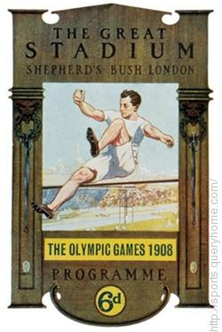 In 1908 the Olympic games were first held in London, England.