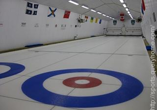 The playing surface of Curling or 'Curling Sheet' is a rectangular area of ice.