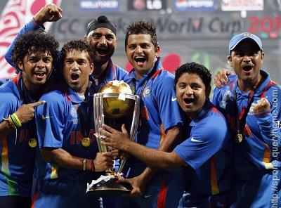 india, first country to win the Cricket World Cup final on home soil.