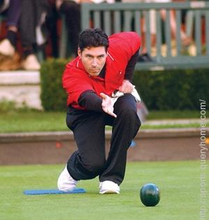 In Bowls sport players tap and guard their balls.