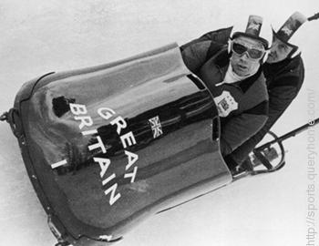 In Bobsleigh event Tony Nash and Robin Dixon win a gold medal at the 1964 Winter Olympics.