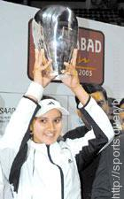 Sania Mirza at 2005 AP Tourism Hyderabad Open