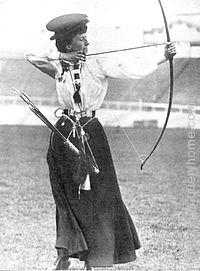 Queenie Newall at the 1908 Summer Olympics