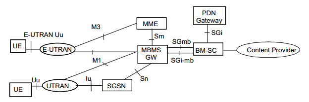 Network Structure of MBMS