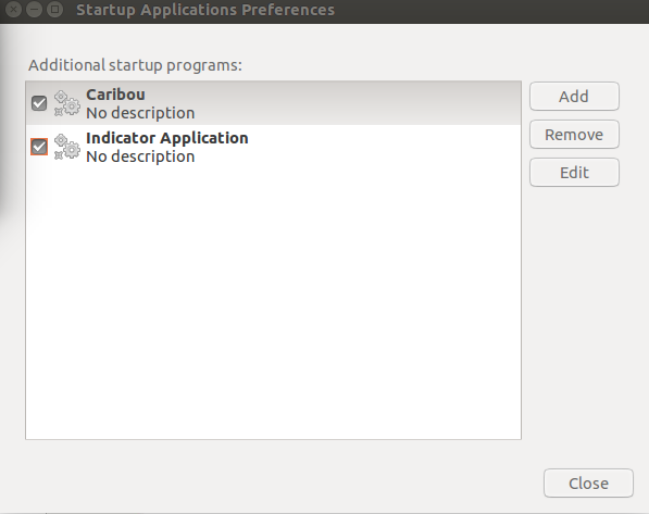 Startup Application Preferences pic