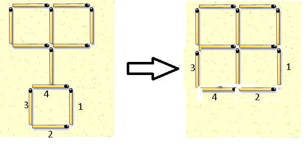 why move six.... just four movements achieved it... four small squares and one big-square.