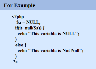is_null in PHP