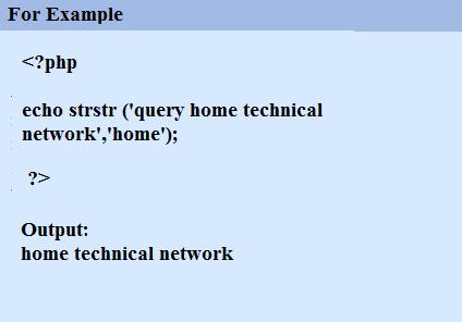 strstr examples