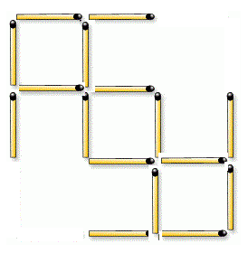 how about this? ....  just moved 4 sticks.... and there surely are 3 same sized squares... :)